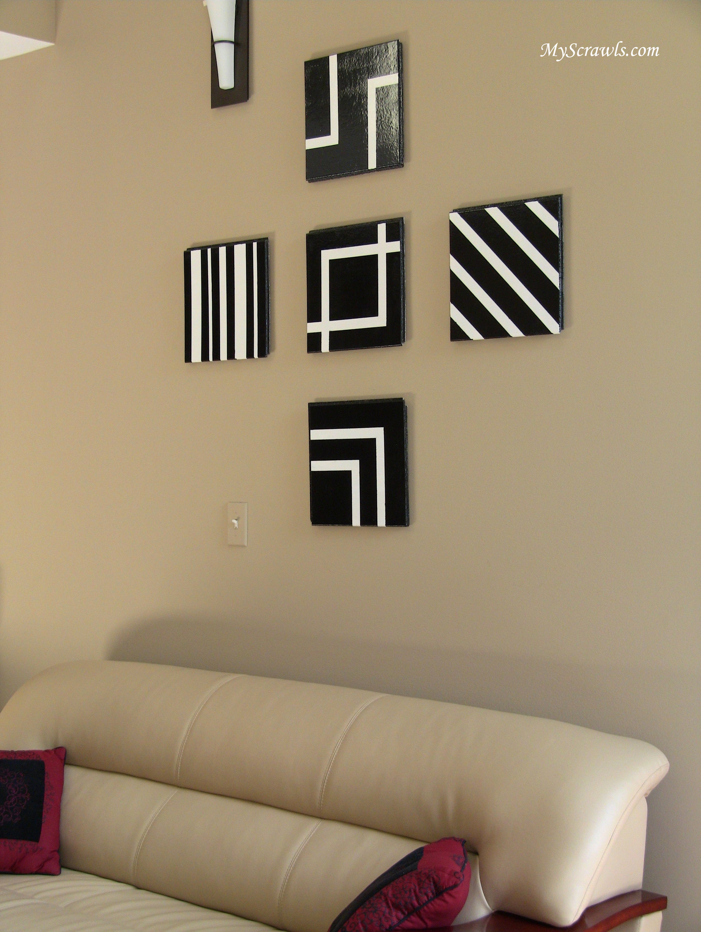 Wall art decor my scrawls for White wall living room ideas